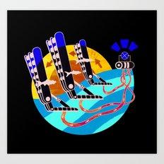 Oyster Wave Technology Art Print