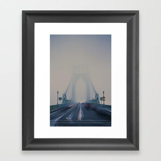 St. Johns Bridge Fog Framed Art Print