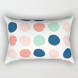 Painted dots pattern minimal basic nursery decor home trends colorful art Rectangular Pillow