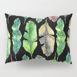 leaves in the black Pillow Sham