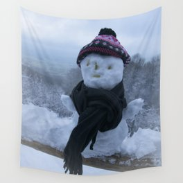 Silly Snowman Wall Tapestry