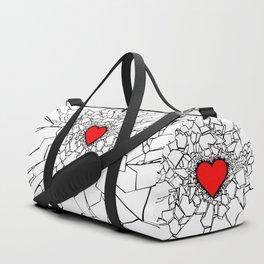 Heartbreaker III White Duffle Bag