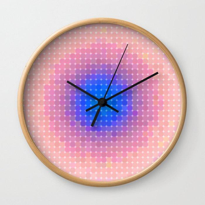 Ripple VI Pixelated Wall Clock