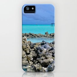 Little Lagoon in Maldives iPhone Case