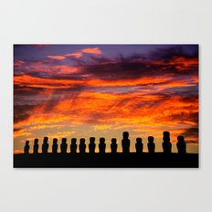 EASTER ISLAND SUNRISE Canvas Print