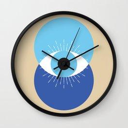 Evil Eye Symbol Mid Century Modern Art 70s Style Wall Clock