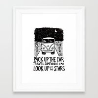 vw bus Framed Art Prints featuring VW Bus by Gracie Wilson