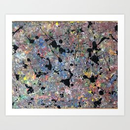 Pollocked Art Print