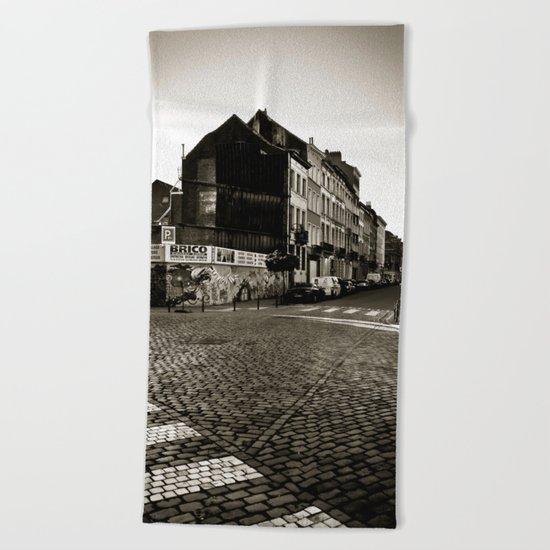 Vintage Poetic City Beach Towel