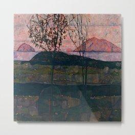 "Egon Schiele ""Setting Sun"" Metal Print"