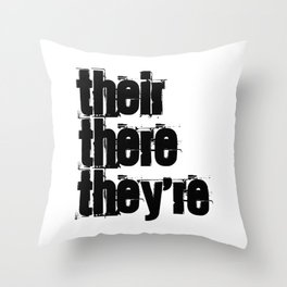 Their There They're Throw Pillow