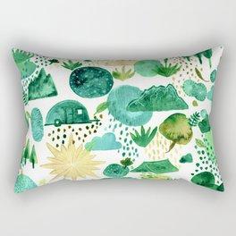 Happy Camper-Green Rectangular Pillow