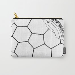 Soccer Patent - Football Art - Black And White Carry-All Pouch