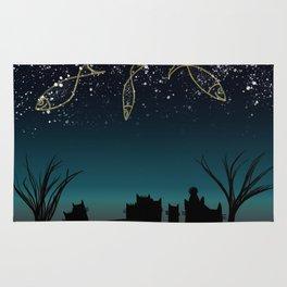 Fish constellation Rug