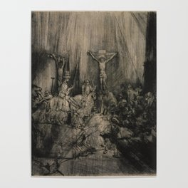 Rembrandt - The Three Crosses (1655) Poster