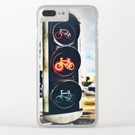 Bicycle Traffic Lights Clear iPhone Case
