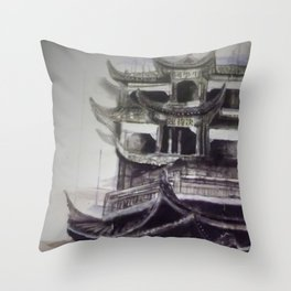 Charcoal Tradition Throw Pillow