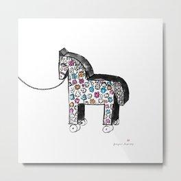Wooden horse Metal Print