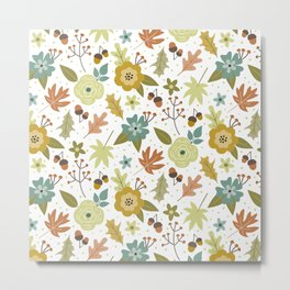 Fall floral pattern Metal Print