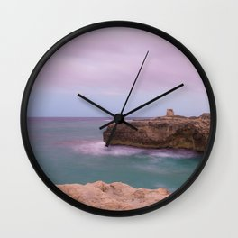 Salento and clouds Wall Clock