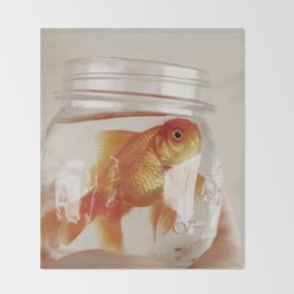 jar of fish Throw Blanket