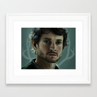 will graham Framed Art Prints featuring Will Graham by Madison Yang
