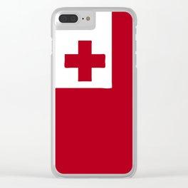 Tonga flag emblem Clear iPhone Case