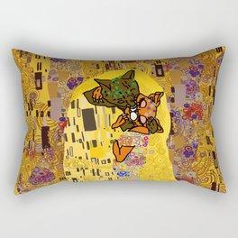 Kiss Klimt Cats Rectangular Pillow