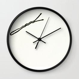 bobby pin Wall Clock