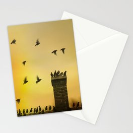 Rooftop Birds Stationery Cards