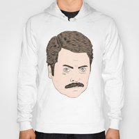swanson Hoodies featuring Ron Swanson by Chase Kunz