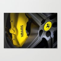 ferrari Canvas Prints featuring Ferrari by Grafiko