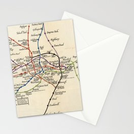 Vintage Map of The London Underground (1923) Stationery Cards