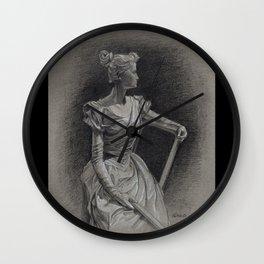 Sitting Lady, Dame Assise, Paul du Bois, Bruxelles Wall Clock