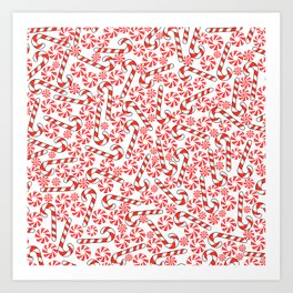 Cute Candy Holiday Pattern Art Print