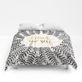 Treat Yo Self – Black & Gold Comforters