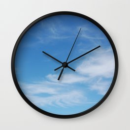 Wispy Clouds Wall Clock