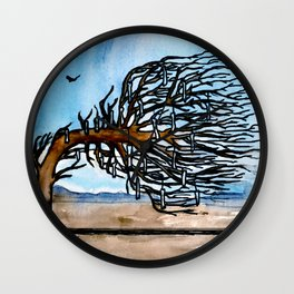 'Opposites' Tree Wall Clock