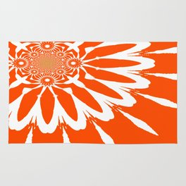 The Modern Flower Orange Rug