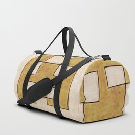 Protoglifo 06 'Mustard traverse cream' Duffle Bag