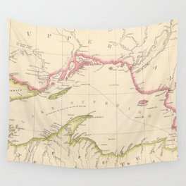 Vintage Map of Lake Superior (1832) Wall Tapestry