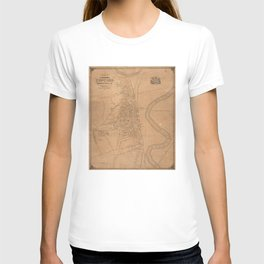 Vintage Map of Concord NH (1851) T-shirt