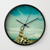 meditation Wall Clocks featuring Meditation by Olivia Joy StClaire