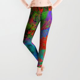Ocular Fire (psychedelic, visionary) Leggings
