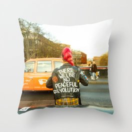 There Will Be No Peaceful Revolution Throw Pillow