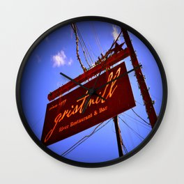 Gristmill Sign Wall Clock
