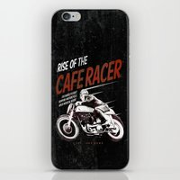 cafe racer iPhone & iPod Skins featuring Rise of the Cafe Racer II by RiseoftheCafeRacer