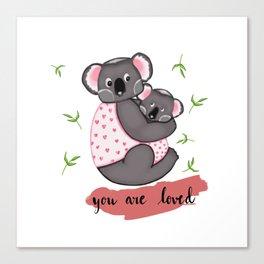 Cute Koalas in jackets Canvas Print