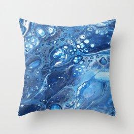 Bubbling River Throw Pillow