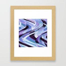 Wavy Blue Framed Art Print